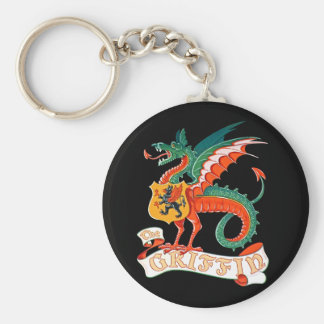 The Griffin Basic Round Button Key Ring