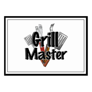 The Grill Master with BBQ Tools Pack Of Chubby Business Cards