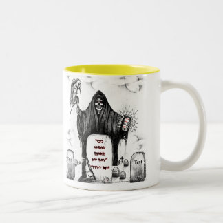 The Grim Reaper Collection by Clark Ulysse Two-Tone Coffee Mug