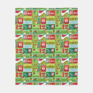 The Grinch | 12 Days of Grinchmas Pattern Fleece Blanket