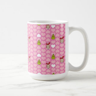 The Grinch & Cindy-Lou Pink Heart Pattern Coffee Mug