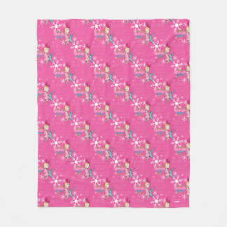 The Grinch | Cindy-Lou Who Pink Holiday Pattern Fleece Blanket