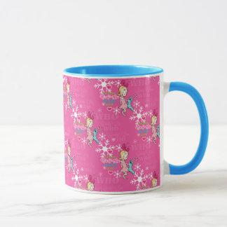 The Grinch | Cindy-Lou Who Pink Holiday Pattern Mug