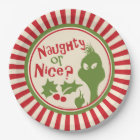 The Grinch | Naughty or Nice Paper Plate