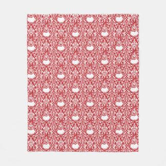 The Grinch | Red Damask Pattern Fleece Blanket
