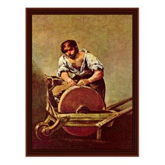 The Grinder ( El Afilador) By Francisco De Goya Postcard