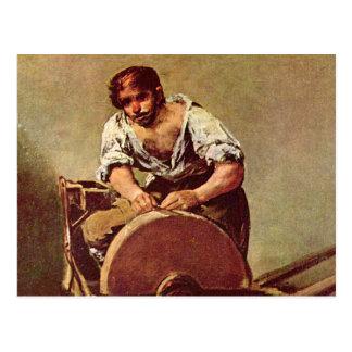 The grinder - Francisco de Goya Postcard