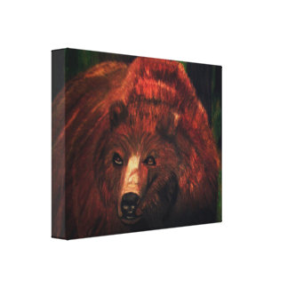 THE GRIZZLY BEAR canvas Canvas Print