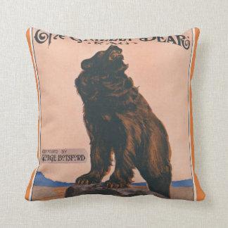 The Grizzly Bear Rag Cushion