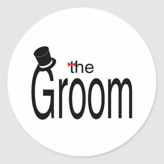 The Groom Classic Round Sticker