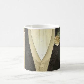 """The Groom """"His"""" (ivory) Wedding Basic White Mug"""