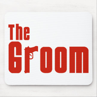 The Groom (Mafia Red) Mouse Pad