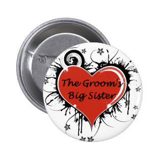 The Groom's Big Sister 6 Cm Round Badge