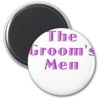 The Grooms Men 6 Cm Round Magnet