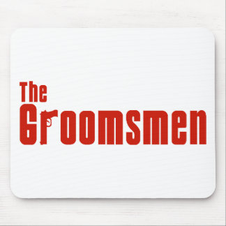The Groomsmen (Mafia Red) Mouse Pad