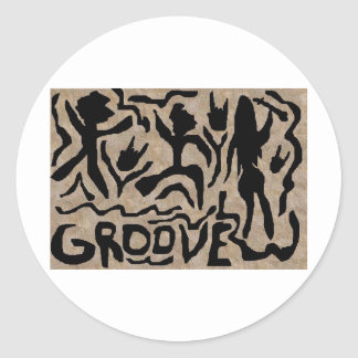 The Groove Round Sticker