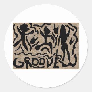 The Groove Round Sticker