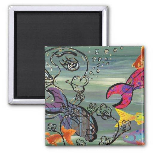 The Groovy Aquarium magnet
