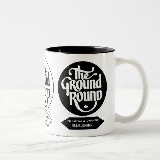 The Ground Round Restaurants of Illinois. Two-Tone Coffee Mug