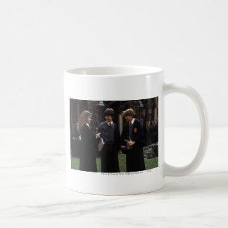 The group outside of Hogwarts Basic White Mug