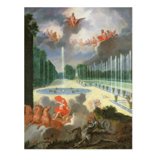 The Groves of Versailles. View of Dragon Pool Postcard