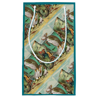 The Gryphon Alice and Mock Turtle Small Gift Bag
