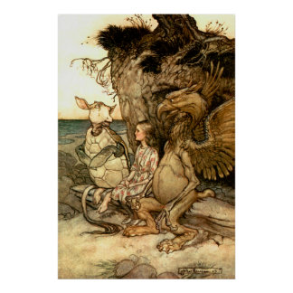 'The gryphon And The Mock Turtle' Poster