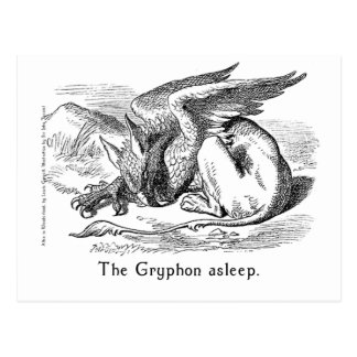 The Gryphon Asleep. Alice in Wonderland Art Postcard