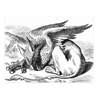 The  Gryphon from Alice in Wonderland Postcard