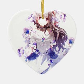 The Guardian Of The Siberian Iris Ceramic Ornament