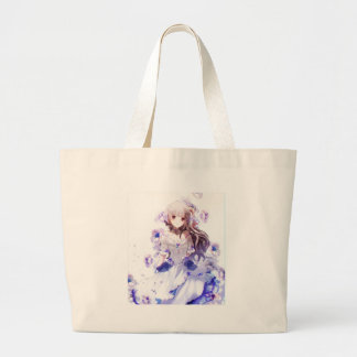 The Guardian Of The Siberian Iris Large Tote Bag