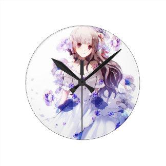 The Guardian Of The Siberian Iris Round Clock