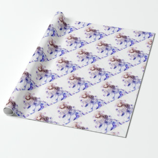 The Guardian Of The Siberian Iris Wrapping Paper