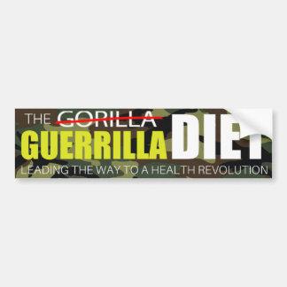 The Guerrilla Diet Bumper Sticker