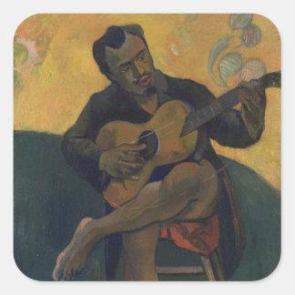 The Guitarist Square Sticker