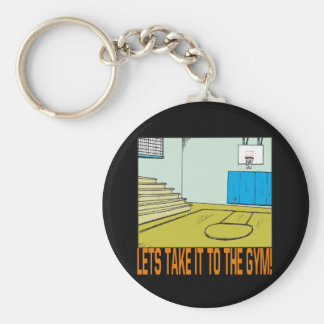 The Gym Basic Round Button Key Ring