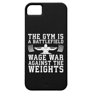 The Gym Is A Battlefield - Workout Motivational iPhone 5 Cover