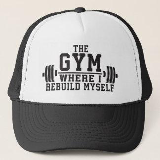 The Gym - Rebuild Myself - Workout Inspirational Trucker Hat