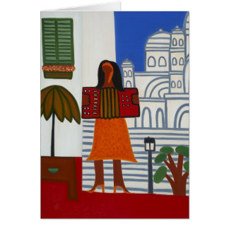 The Gypsy Girl in Front of Sacre Coeur 2006 Card