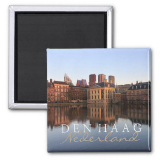 The Hague skyline in the Netherlands text magnet