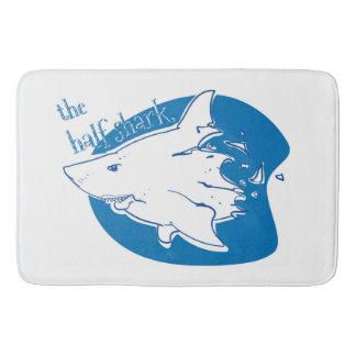 the half shark funny cartoon bath mat