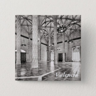 The Hall of Columns in Valencia 15 Cm Square Badge