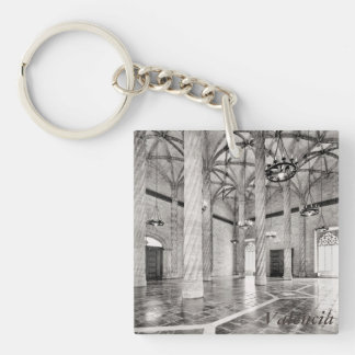 The Hall of Columns in Valencia Key Ring