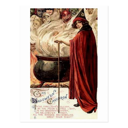The Halloween Cauldron Postcards