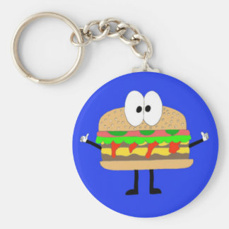 The Hamburger Man doing the Fonzie. Basic Round Button Key Ring