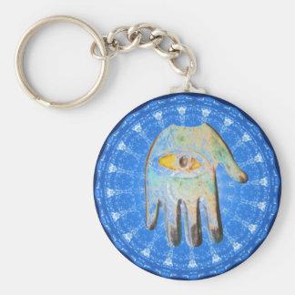 The Hamsa Hand God Evil Eye forprotection Basic Round Button Key Ring