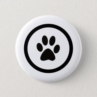 The hand crest of cat 6 cm round badge