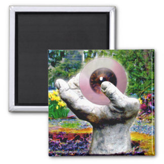 The Hand Digital Photography Square Magnet