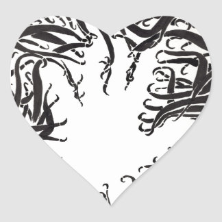 The Hand In The Tentacles Heart Sticker