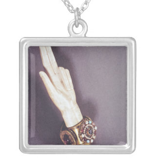 The Hand of Justice of the Kings of France Silver Plated Necklace